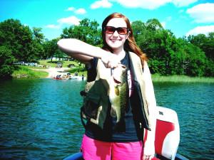 Fishing at Lakecrest Resort.