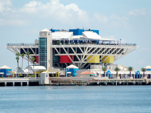 Fishing pier near Shoreline Island Resort.