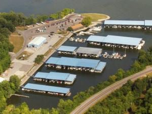Aerial View of Eddy Creek Marina Resort