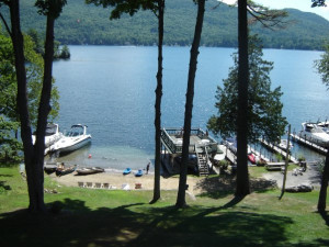 Lake view at Tea Island Resort.