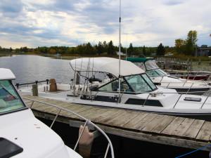Boats at Cyrus Resort.