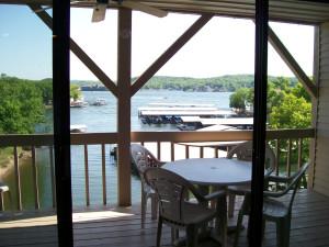 Balcony view at Golden Horseshoe Resort.