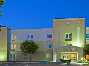 Exterior view of Candlewood Suites Orange County/Irvine Spectrum.