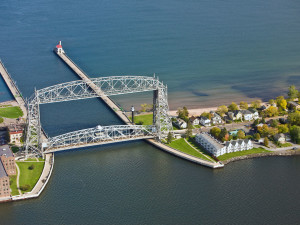 Aerial view of South Pier Inn.