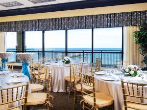 Wedding dinner at Springmaid Beach Resort.