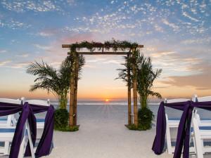 Beach wedding at Sirata Beach Resort.