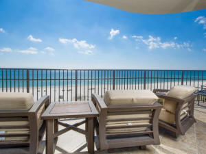 Vacation rental patio at Luxury Coastal Vacations.