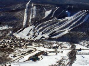 Ski mountain at Greek Peak Mountain Resort.