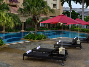 Outdoor pool at Hotel Equatorial Melaka.
