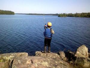 Fishing Fun at Lady Bug Lodge