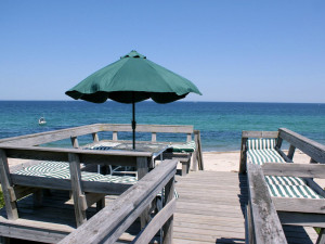 Patio view at Beach Realty.