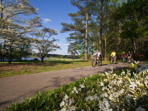 Biking at Callaway Gardens.