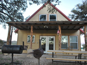 Cabin exterior at Criders Frio River Resort.