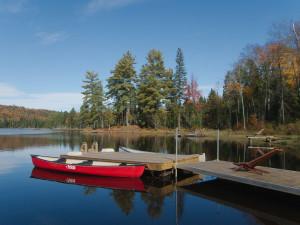 Dock at Algonquin Eco-Lodge.