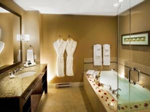 Guest bathroom at The Beach Club Resort.