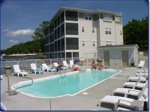 Outdoor pool at Robin's Resort.