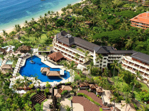 Aerial view of Nusa Dua Beach Hotel and Spa.