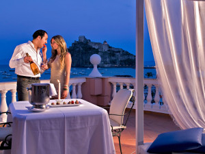 Balcony at Hotel Mare Blu Terme.
