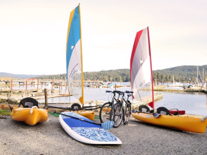 Outdoor activities at Sooke Harbour Resort & Marina.