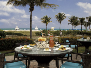 Dining at The Ritz-Carlton, South Beach.