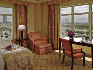 Guest room at The Ritz-Carlton, Dallas.