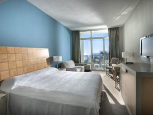 Guest room at Crown Reef Resort.