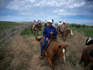 Horseback riding at Colorado Cattle Company Ranch.