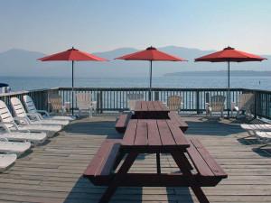 Sun deck at Flamingo Resort.