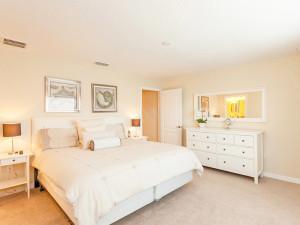 Rental bedroom at Favorite Vacation Homes.