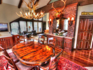 Vacation rental dining room at SkyRun Vacation Rentals - Breckenridge, Colorado.