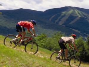 Biking at Waterville Valley Resort.