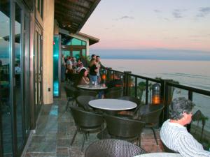 Patio dining at Holiday Inn Resort.