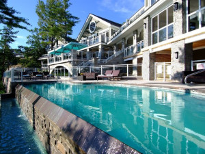 Outdoor Pool at Touchstone on Lake Muskoka