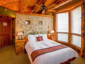 Guest room at Chipeta Solar Springs Resort.