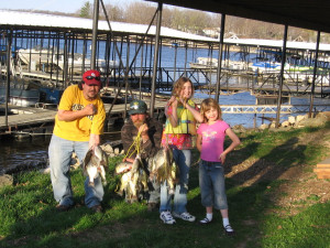 Family fishing at Alhonna Resort.
