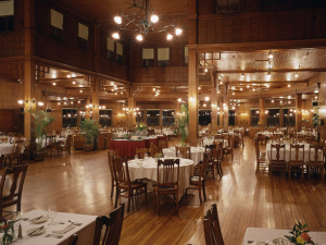 Dining room at Mohonk Mountain House.