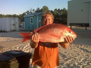 Fishing at Sunset Properties.