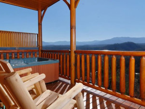 Cabin deck view at Cabins For You.