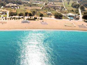 The beach at Hotel Perdika Resort.