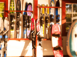 Skis at The Point.