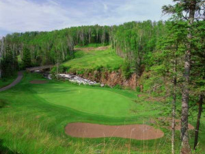 Golf course near Eagle Ridge at Lutsen Mountains.