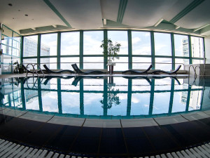 Indoor pool at Corinthia Panorama Hotel.