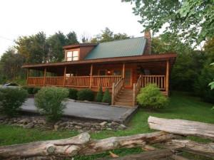 Log cabin at Riverstone Resort & Spa.