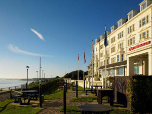 Exterior view of Bournemouth Highcliff Marriott Hotel.