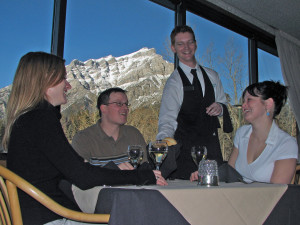 Fine dining at Inns of Banff.
