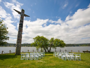 Outdoor wedding at The Resort at Port Ludlow.