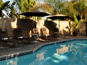 Outdoor pool at Aquamarine Villas.