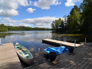 Cabin docks at North Country Vacation Rentals.