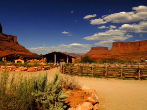 Lodge exterior at Red Cliffs Lodge.