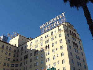 Exterior view of Hollywood Roosevelt Hotel.